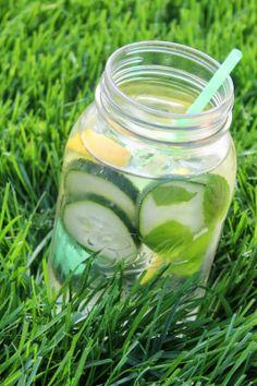 Minty Cucumber Lemon Water