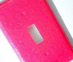 Glitter Light Switch Cover  Hot Pink by lindsayslights on Etsy, $5.50