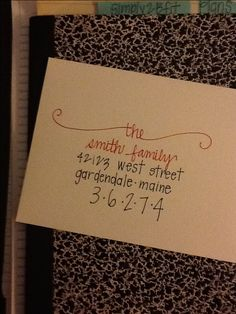 cutest way to address cards!