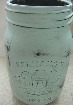 How to Make Distressed Mason Jars  (Great for the center pieces!)