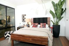 plant, style updat, living rooms, headboard, bed frames, big letters, bedroom style, bedrooms, throw blankets