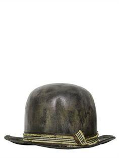 VINTAGE LEATHER BOWLER HAT -