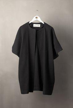 short sleeve coat. by arts & science.