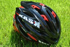 The Kask Vertigo helmet. Letting in lots of air and leather straps! Click the image for our review