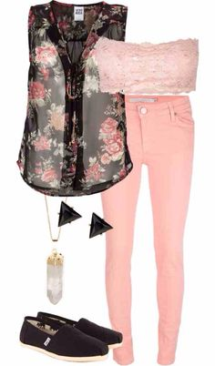 Summer fashion summer fashion, summer outfit, pink jean, pink outfits, sandal, shoe, colored jeans