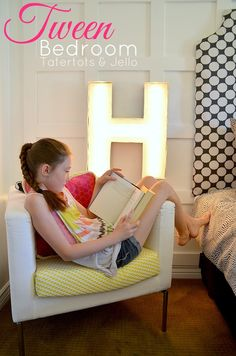 Tween Bedroom Reveal at Tatertots and Jello #inawaverlyworld #DIY #tweenideas