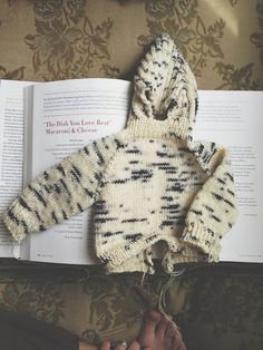 Zip Up The Back Hooded Baby Sweater, free pattern