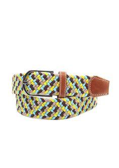 Doublju Mens 3 Color Woven Casual Belt #doublju
