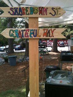 signage at festival