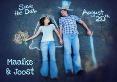 Save the Date - stoepkrijt
