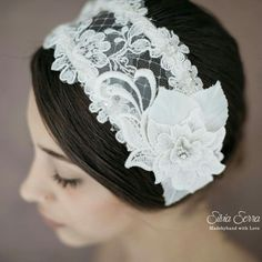 Bridal headpiece / Fascia sposa boho chic #modista #modisteria #milliner #millinery #bespoke #wedding #weddingday #weddingdress #sposa #boho #bohochic #bohostyle