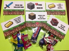 Minecraft Valentine's Day Party Favors by MinecraftPartySolved
