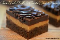 Hugs & CookiesXOXO: PEANUT BUTTER TRUFFLE & CHOCOLATE GLAZED BROWNIES