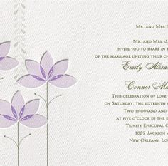 Lilies for Tiana - Fairy Tale Wedding Invitation , $1.89 #fairytalewedding #disneywedding