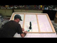 In this video you learn how to make your own stretch canvas any size you like. The video has complete instructions from start to finish. for more videos go to www.artfusionproductions.com.au