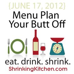 Shrinking Kitchen - Eat. Drink. Shrink.  Amazing site with weekly menu, recipes with Weight Watchers points and grocery list