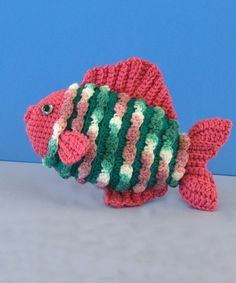 Crocheted Fish.