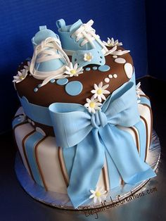 boy baby showers, baby shower cakes, elegant cakes, baby boy shower, baby boys, babi boy, baby boy cakes, baby cakes, babi shower
