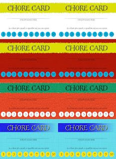 A Couple of Craft Addicts: Chore Cards-Free Download