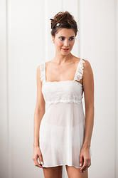 Meg Chemise-French lace and silk adorned with Swarovski crystals #wedding #lingerie #boudoir