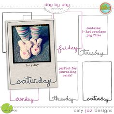 Day By Day Overlays - Amy Jaz Designs