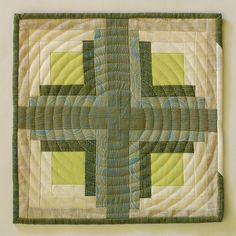 circles, color combos, colors, log cabins, cushion, stitching patterns, cabin tabl, circl quilt, circular quilt