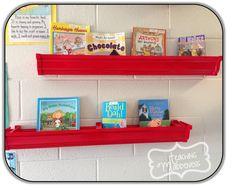 Rain Gutter Bookshelves {A Bright Idea}