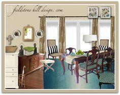 Dining Room Design by Fieldstone Hill Design. com