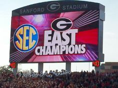How 'Bout Them Dawgs!! UGA wins the SEC East division for the 5th time (4th time under Coach Richt).