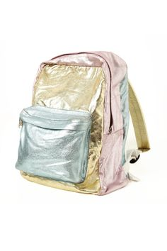 MASH METALIC TEXTURED BACKPACK MULTI COLORS