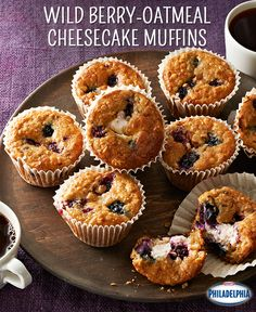 Want an excuse to eat cheesecake for breakfast? These Wild Berry-Oatmeal Cheesecake Muffins are it! And they are a great breakfast for busy mornings when you just don't have time to sit down.