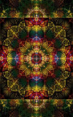 Like this rich color scheme. image only kaleidoscop, pattern, color schemes, fractal art, tapestri, mandala