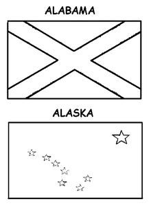 printable coloring pages of the US state flags