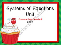 System of Equations Unit from Teacher Twins on TeachersNotebook.com -  (199 pages)  - This unit is now available in the 8th Grade Common Core Math Unit Bundle.  This is a 10 day unit on Systems of Equations. Each day has a PowerPoint that includes a warm up with answers, notes, and a closure of the lesson. Guided notes or foldables are pro