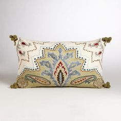 One of my favorite discoveries at WorldMarket.com: Cool Piazza Lumbar Pillow