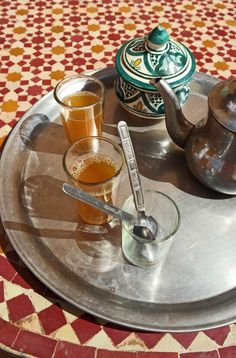 Tea moment in Morocc