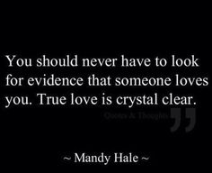 True love is crystal clear..