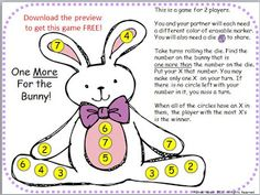 Classroom Freebies: Roll and Add Bunny Activity #Easter #math #printables