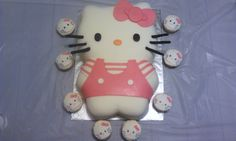 1st birthday Hello Kitty cake & cupcakes