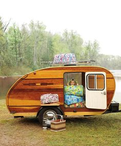 wood teardrop trailer