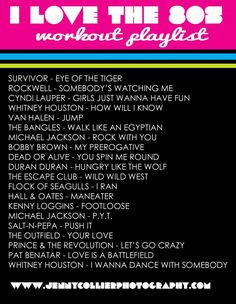 80's workout playlist--I MUST make this list! I've never stop working out!