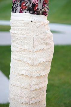 DIY: Lace pencil skirt