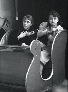 "Robert Doisneau - ""The ghost train"", 1953."