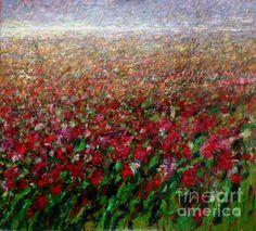 Mario Zampedroni, Campo de adormideras rojas. http://fineartamerica.com/featured/floral-print--red-poppies-field-mario-zampedroni.html flore en, floral prints, abstract inspir, mario zampedroni, la pintura, las flore