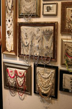 Jewelry organizers and displays!! Great Idea!!!