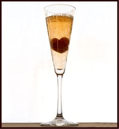 CHAMPAGNE COCKTAIL . . . FOR VALENTINE'S DAY!