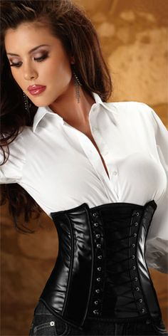 Side-Zip Waist Cincher. I would totally wear one of these if I thought I could pull it off.