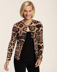 Collection Leopard Fringe Jacket