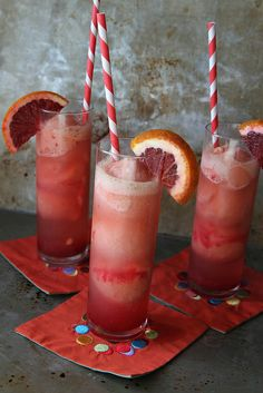 Champagne and Blood Orange Sorbet Sparkler by Heather Christo, via Flickr