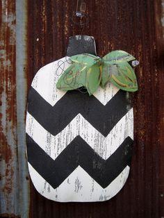 Pumpkin Door Hanger by WiredupbyMellie on Etsy, $40.00
